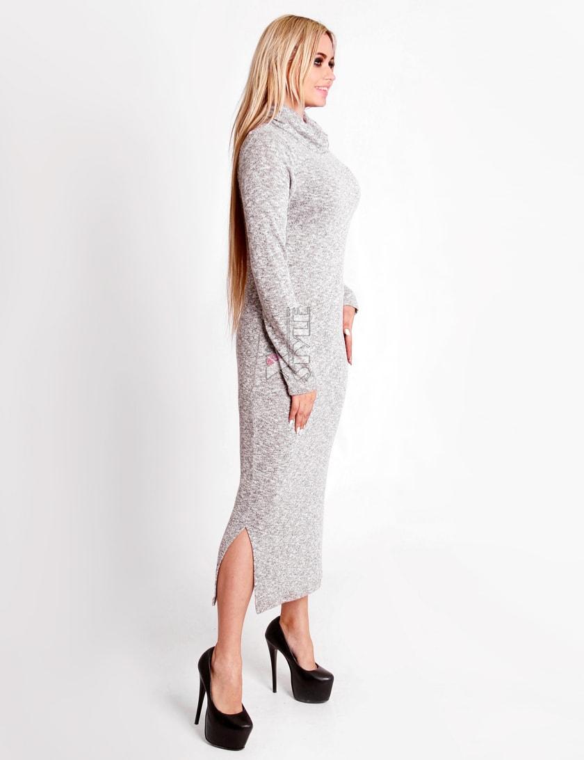 Серое меланжевое платье XC306, 7