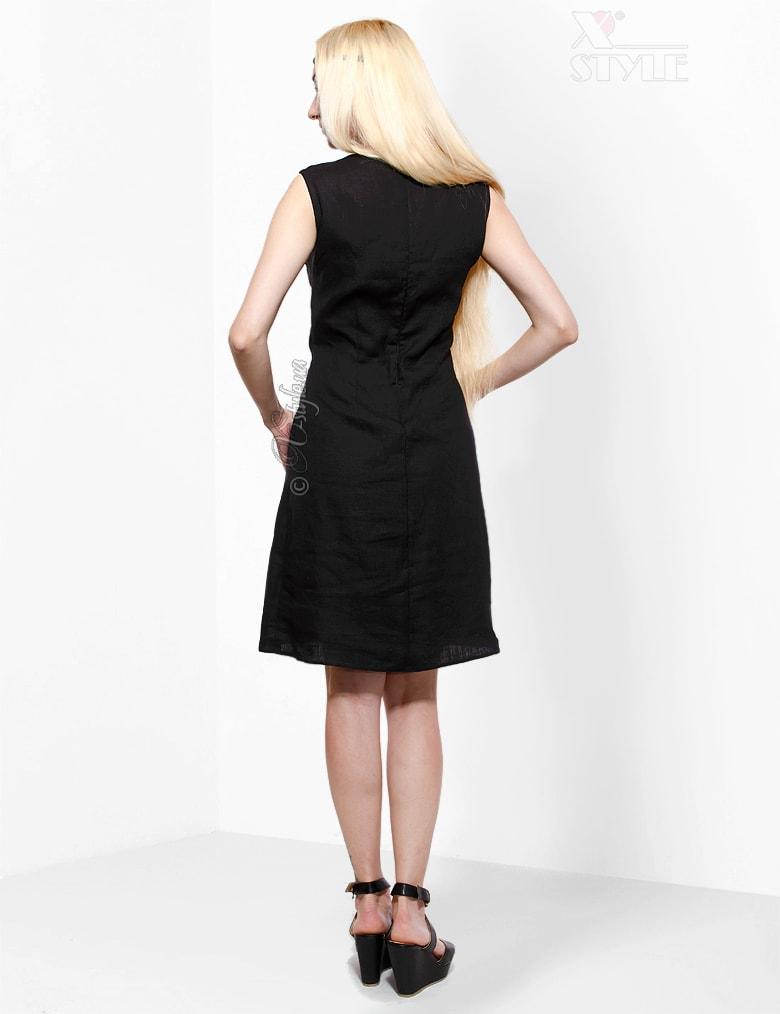 Льняное платье с вышивкой XT-130, 3