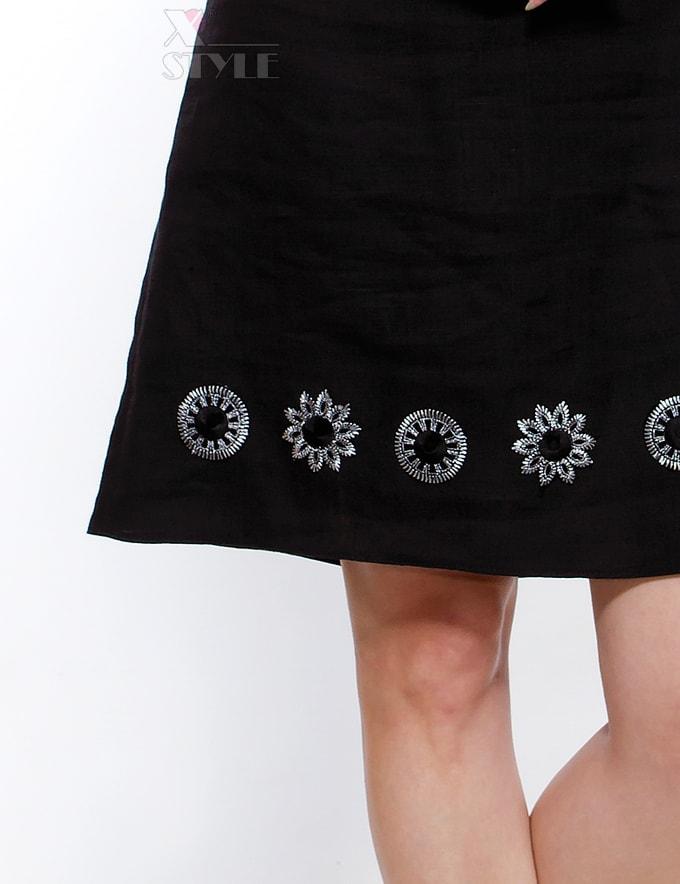 Льняное платье с вышивкой XT-130, 7