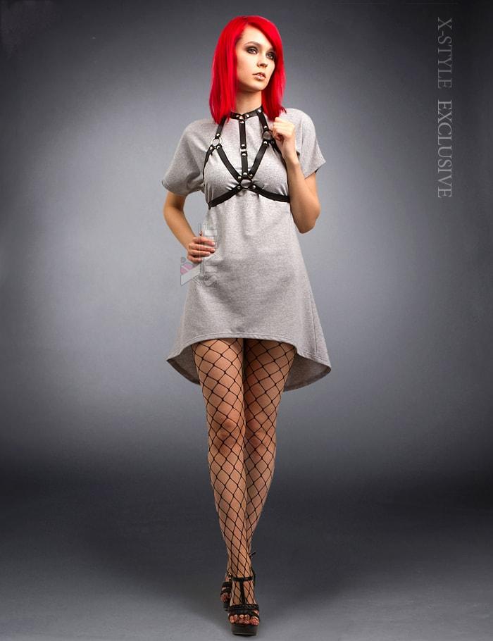 Платье с портупеей X246