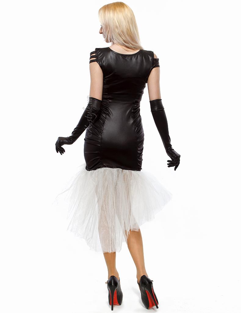 Вечернее платье с перчатками и вышивкой, 3