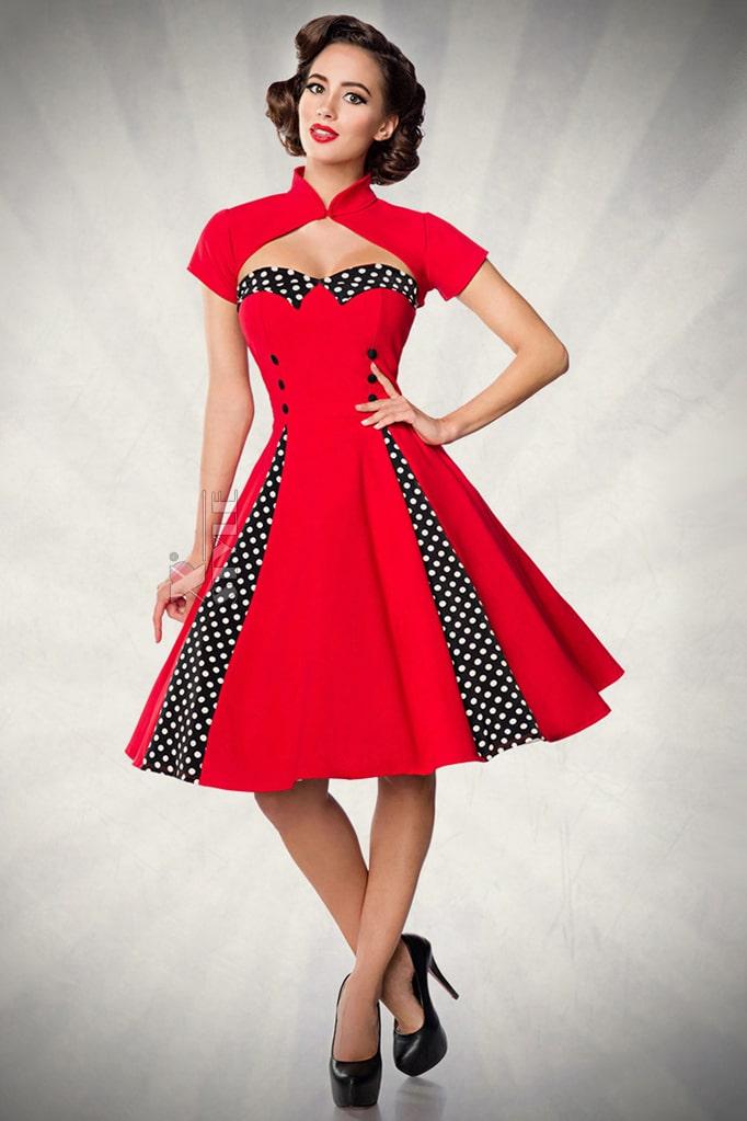 Красное ретро-платье с болеро, 9