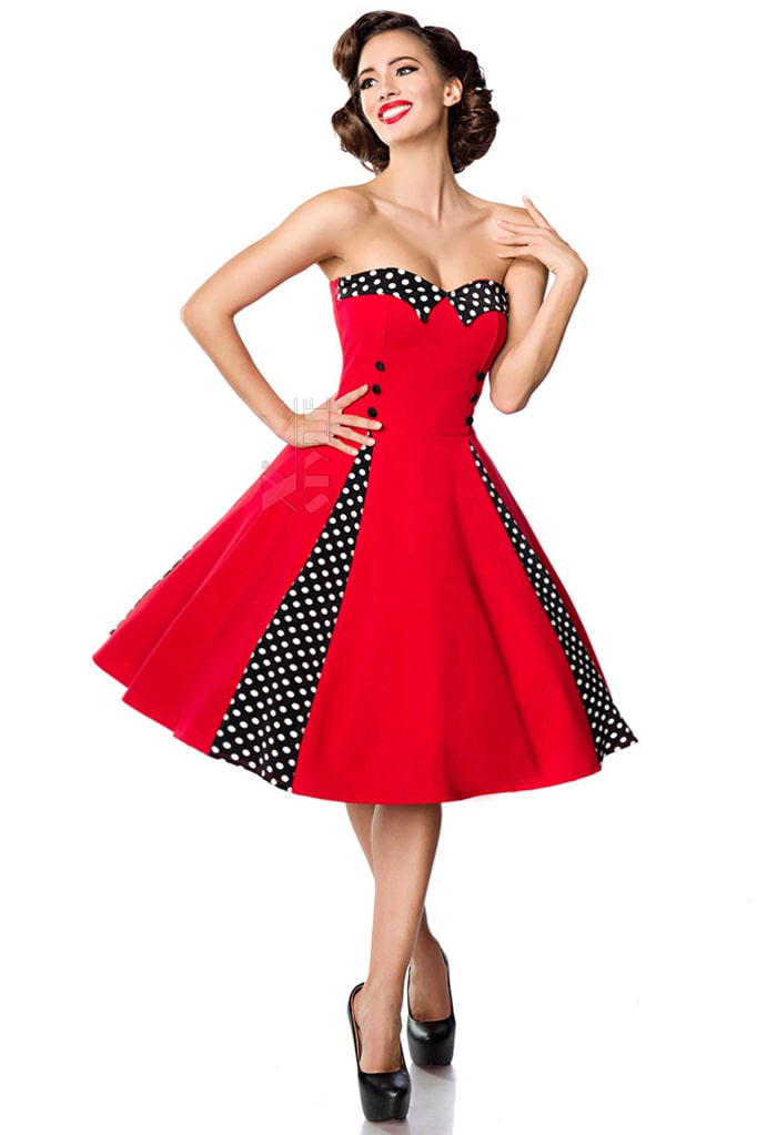 Красное ретро-платье с болеро, 11