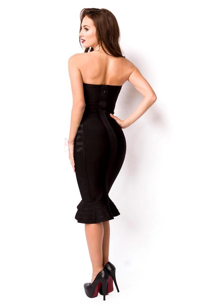 Бандажное платье XC5315 черное, 7