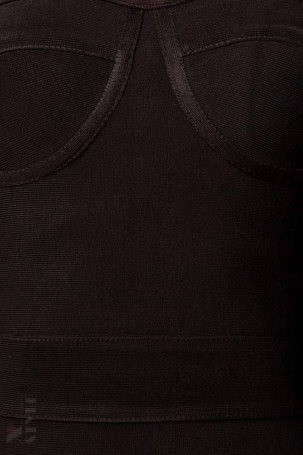 Бандажное платье XC5315 черное, 5