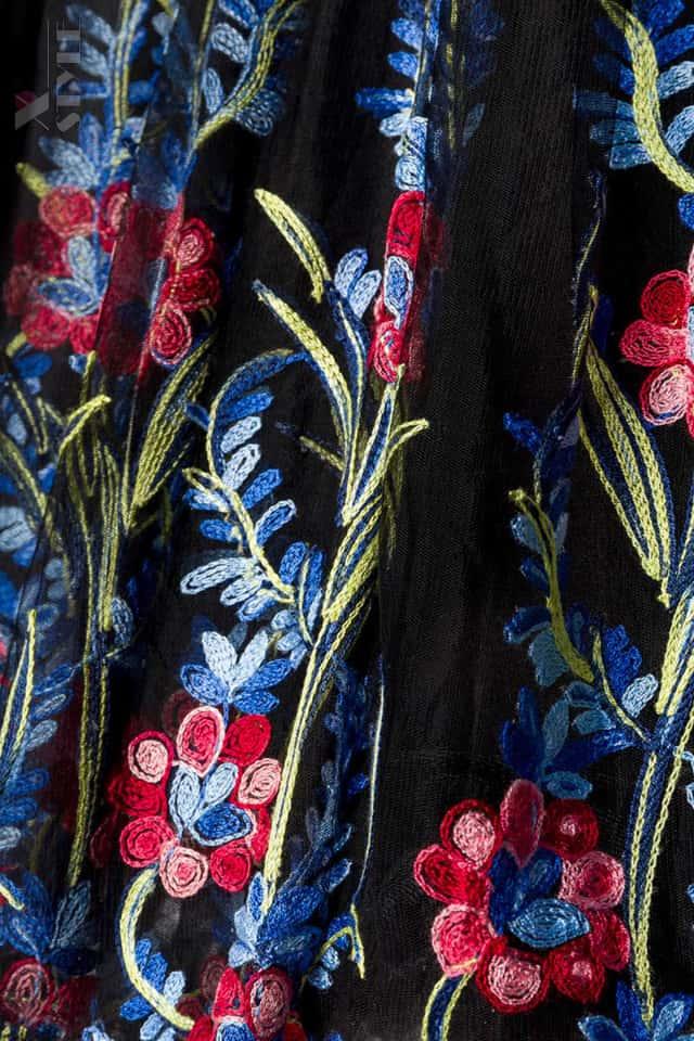 Винтажное платье с вышитой юбкой, 7