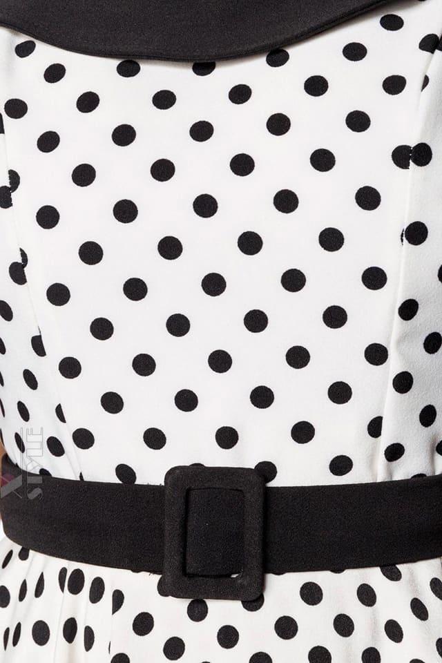 Винтажное платье в горошек B5390, 7
