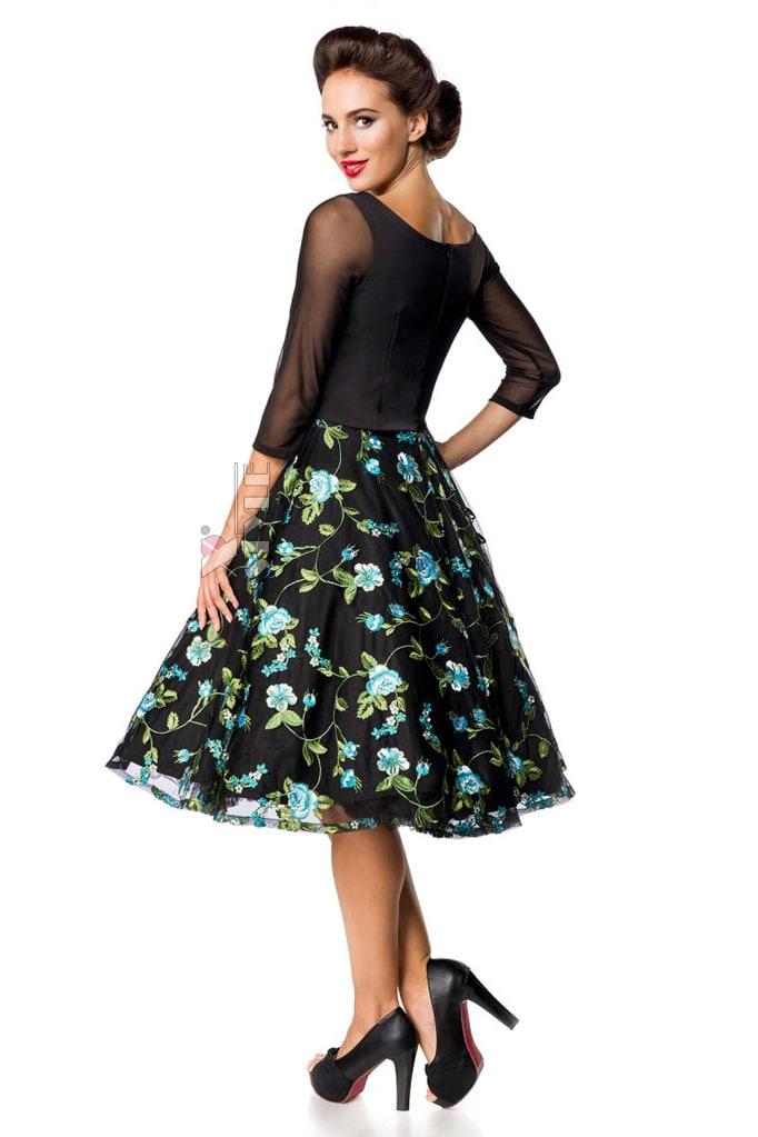 Винтажное вечернее платье с вышивкой B5391, 3