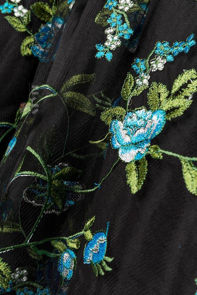 Винтажное вечернее платье с вышивкой B5391, 7