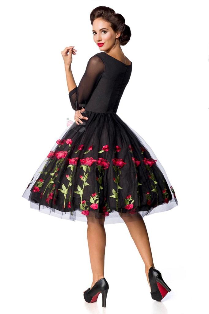 Винтажное платье с вышивкой на юбке Belsira, 7