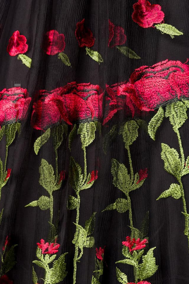 Винтажное платье с вышивкой на юбке Belsira, 3