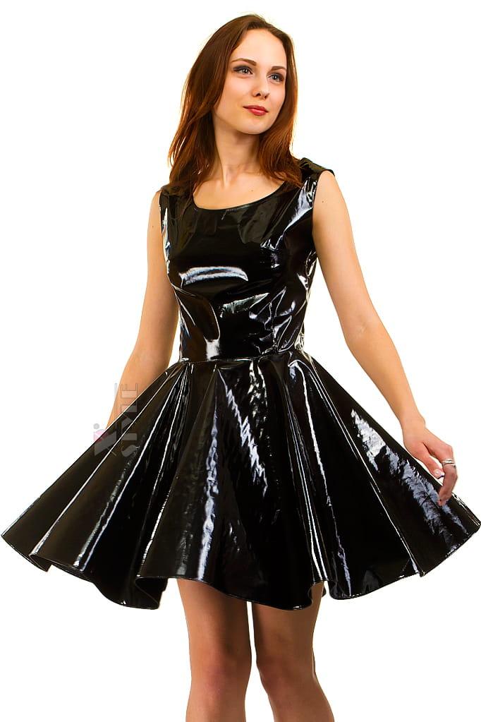 Платье клеш под латекс X-Style, 3