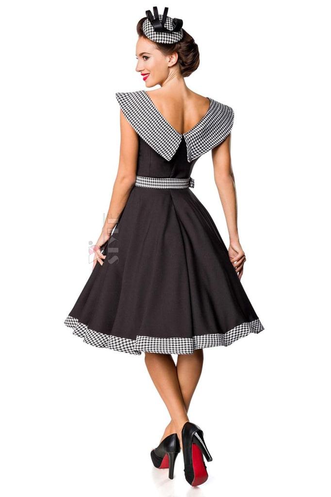 Ретро платье с воротником и поясом Belsira, 5