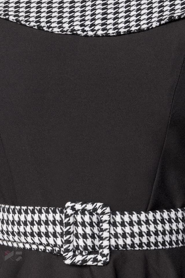 Ретро платье с воротником и поясом Belsira, 7