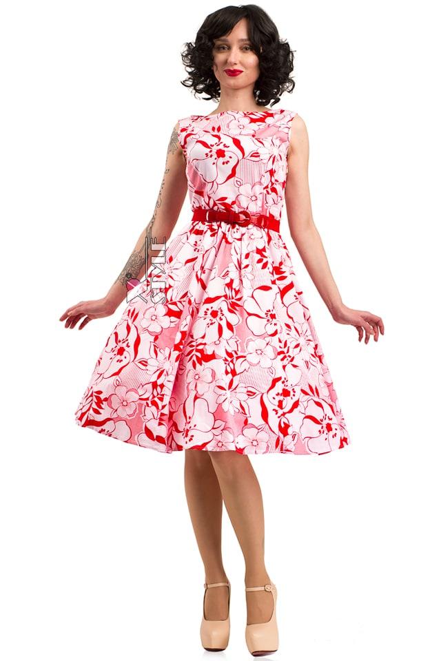 Летнее платье с цветочным узором X5349, 7