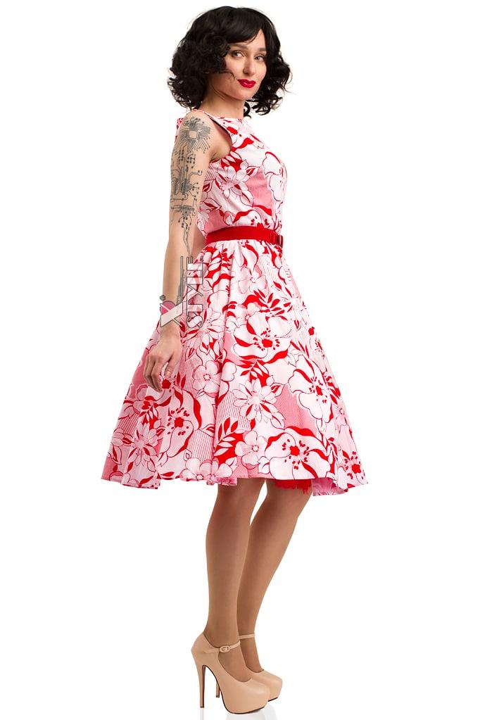 Летнее платье с цветочным узором X5349, 5