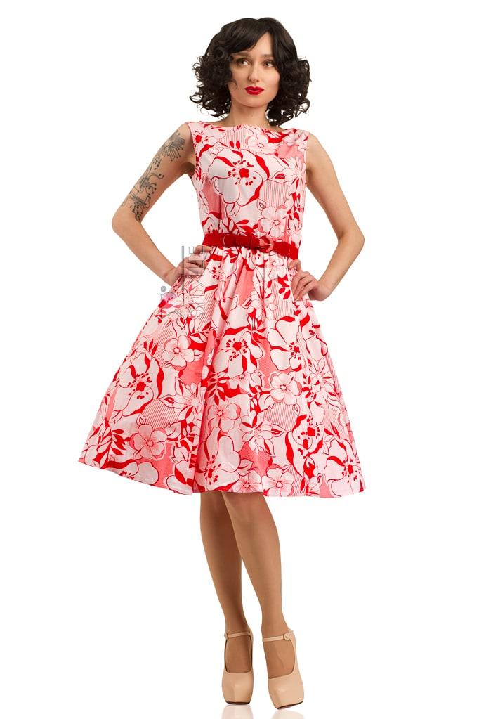 Летнее платье с цветочным узором X5349, 3