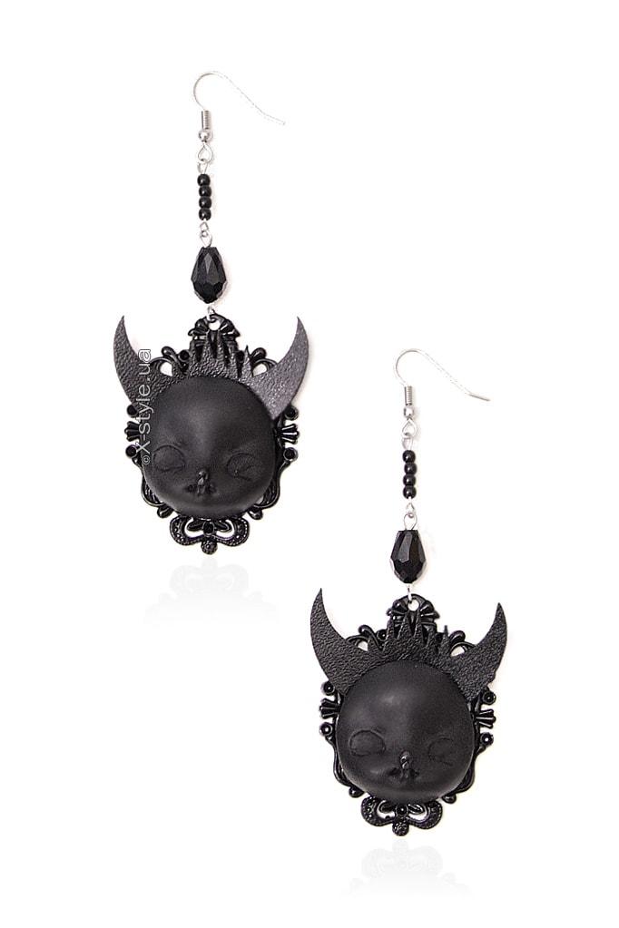 Серьги Black Demon XJ9150