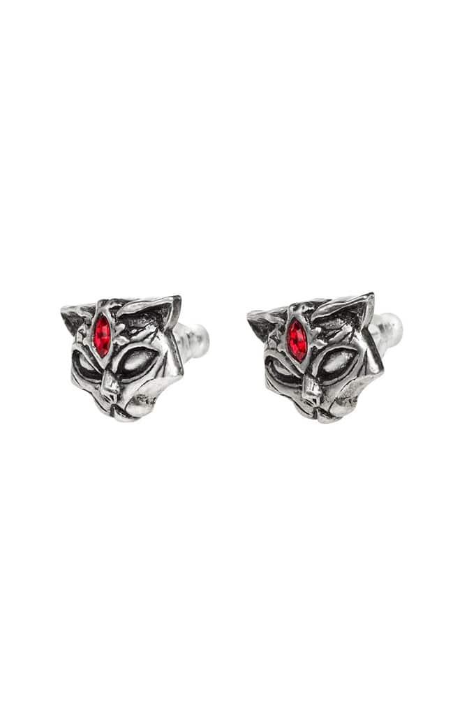 Серьги Sacred Cat с камнями, 7