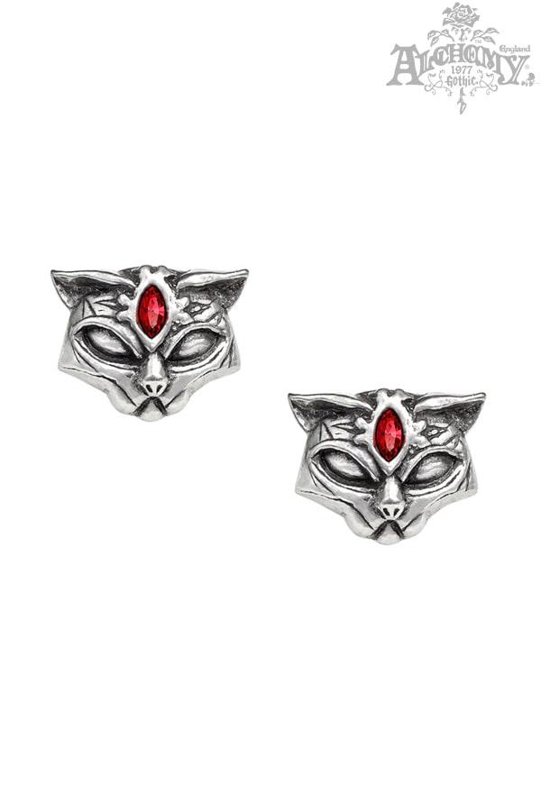 Серьги Sacred Cat с камнями, 5