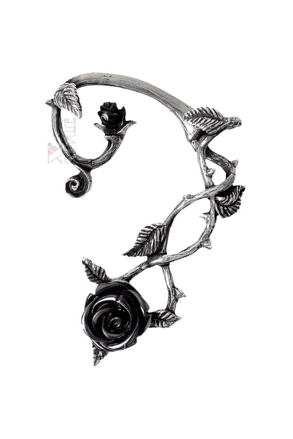 Серьга кафф Black Rose (Left), 3