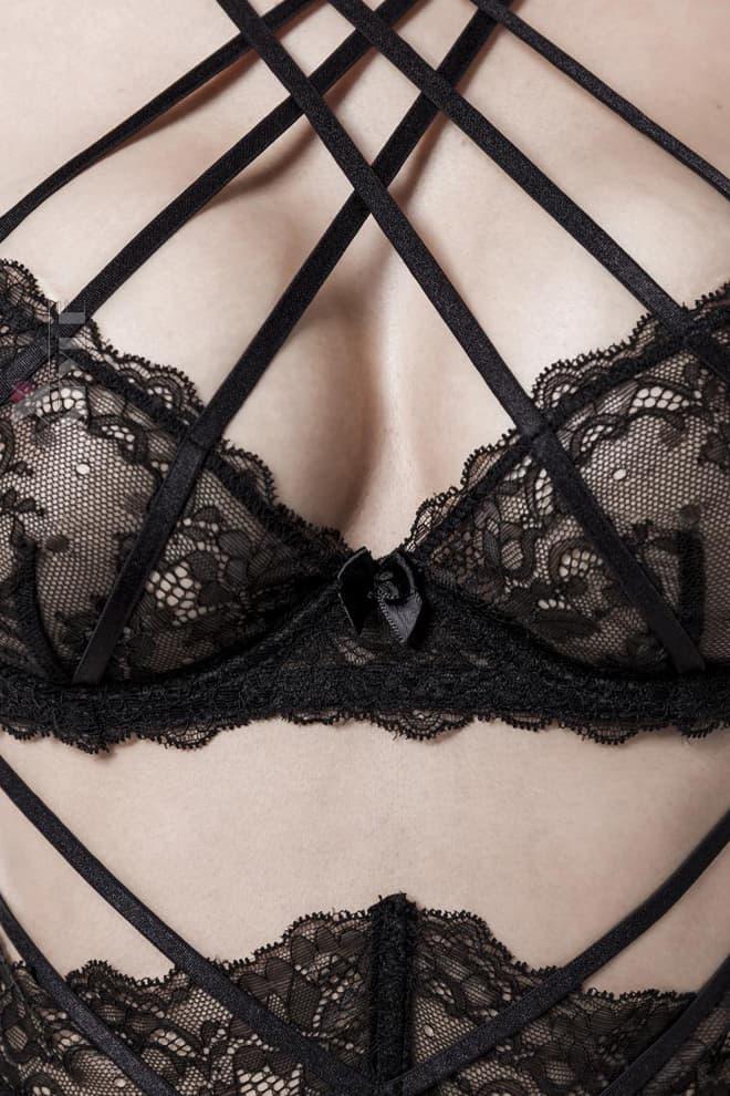 Комплект эротического белья Grey Velvet, 5