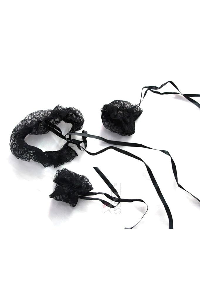 Сексуальный комплект: ажурный чокер и наручники