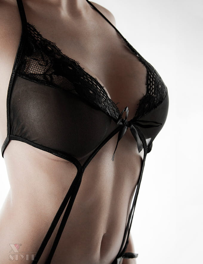 Прозрачное черное боди Grey Velvet, 7
