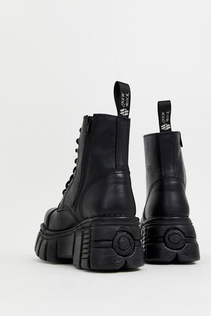 Черные кожаные ботинки на платформе NM083, 5