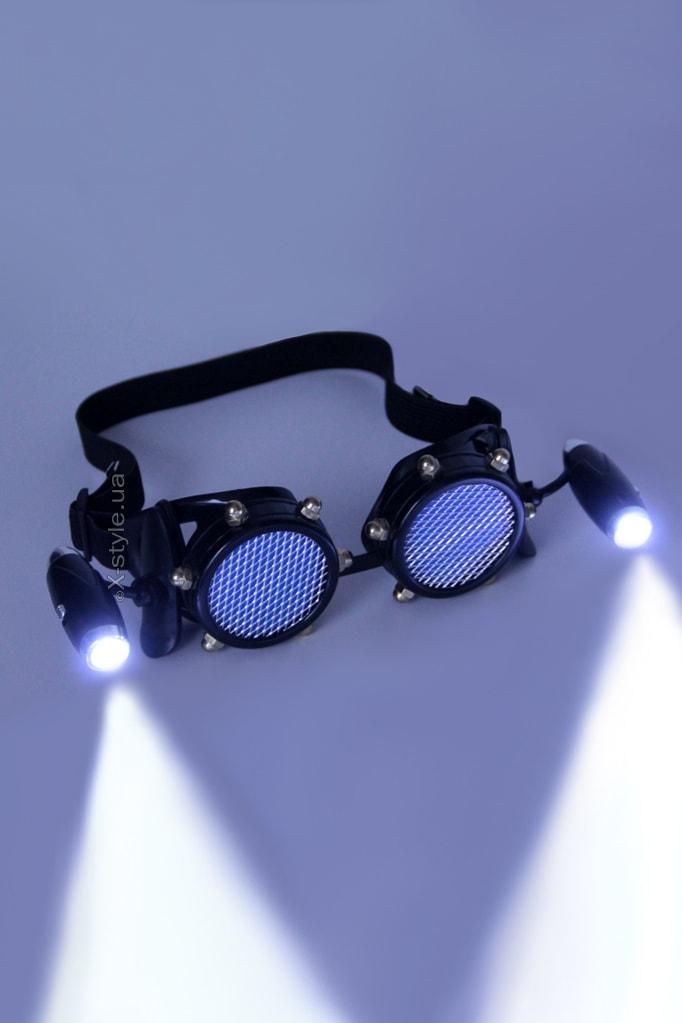 Черные гогглы с подсветкой I5103, 9