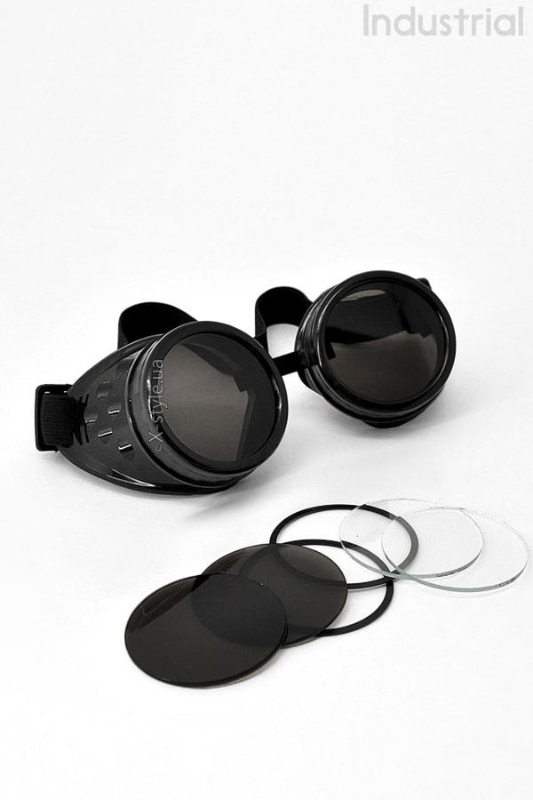 Черные гогглы со съемными линзами IN5084