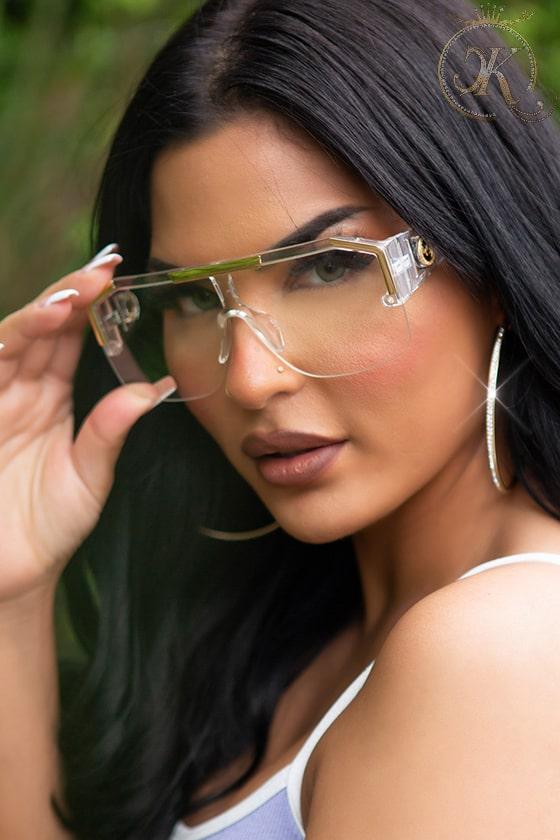 Прозрачные солнцезащитные очки KC5109, 9