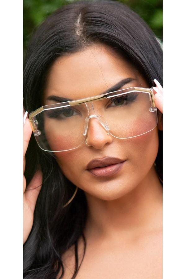 Прозрачные солнцезащитные очки KC5109, 11