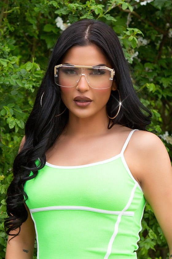 Прозрачные солнцезащитные очки KC5109, 7