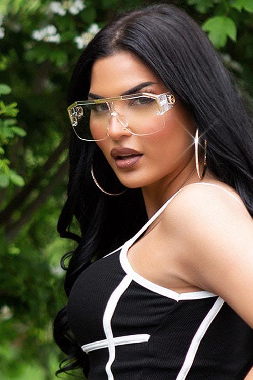 Прозрачные солнцезащитные очки KC5109, 5