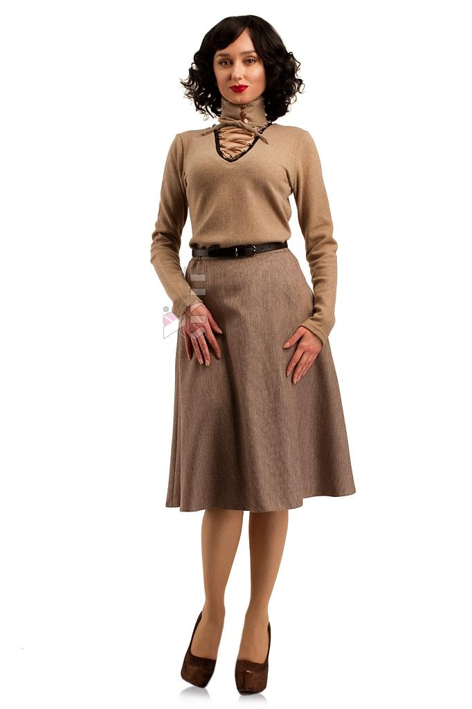 Шерстяной женский джемпер со шнуровкой и чокером, 3