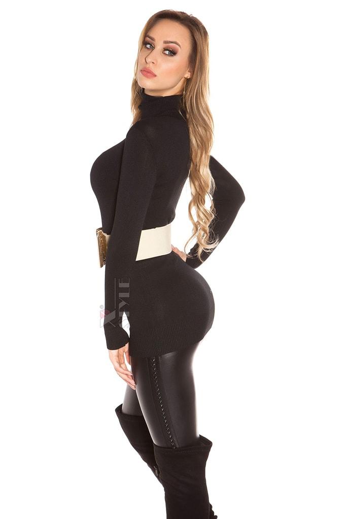 Черный свитер-туника KouCla, 5