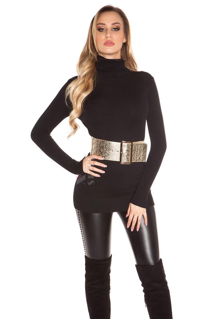 Черный свитер-туника KouCla, 11