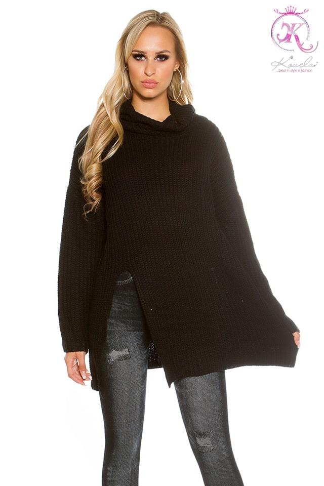Черный свитер оверсайз KouCla