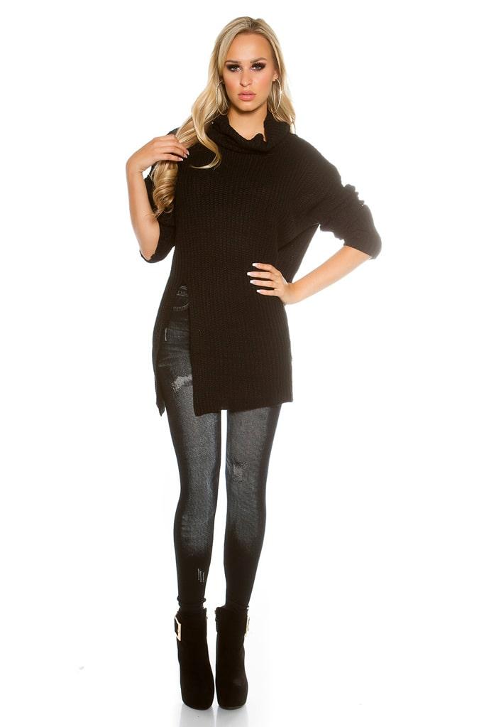 Черный свитер оверсайз KouCla, 5