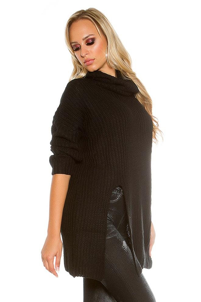 Черный свитер оверсайз KouCla, 9