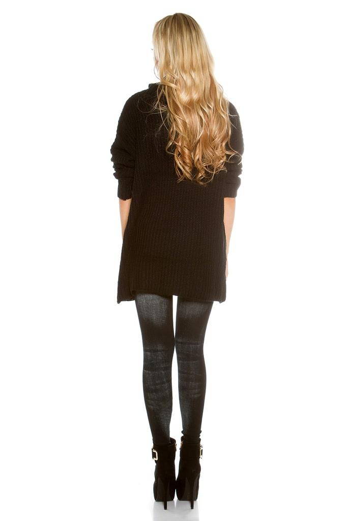 Черный свитер оверсайз KouCla, 13