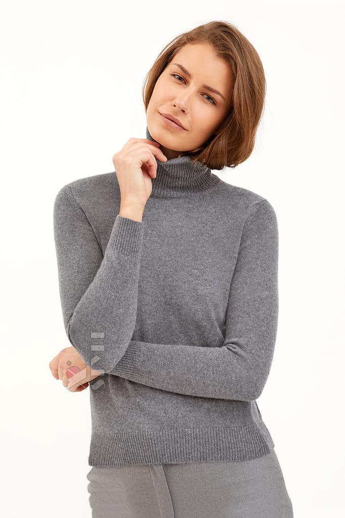 Серый меланжевый свитер XC1031, 3