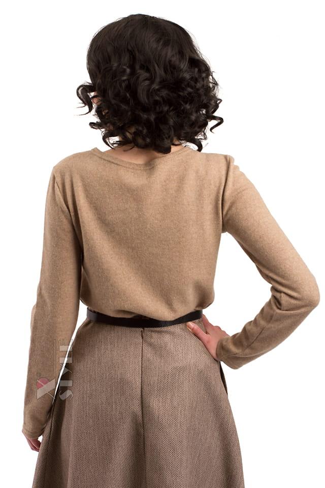 Джемпер женский из овечьей шерсти X1215, 7