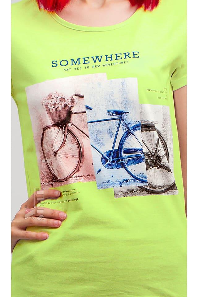 Салатовая футболка с рисунком XC2113, 3