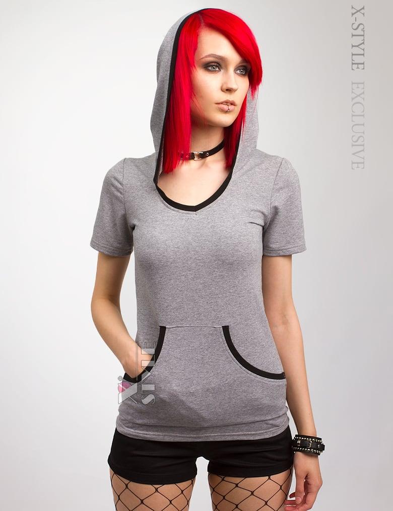 Женская футболка-худи