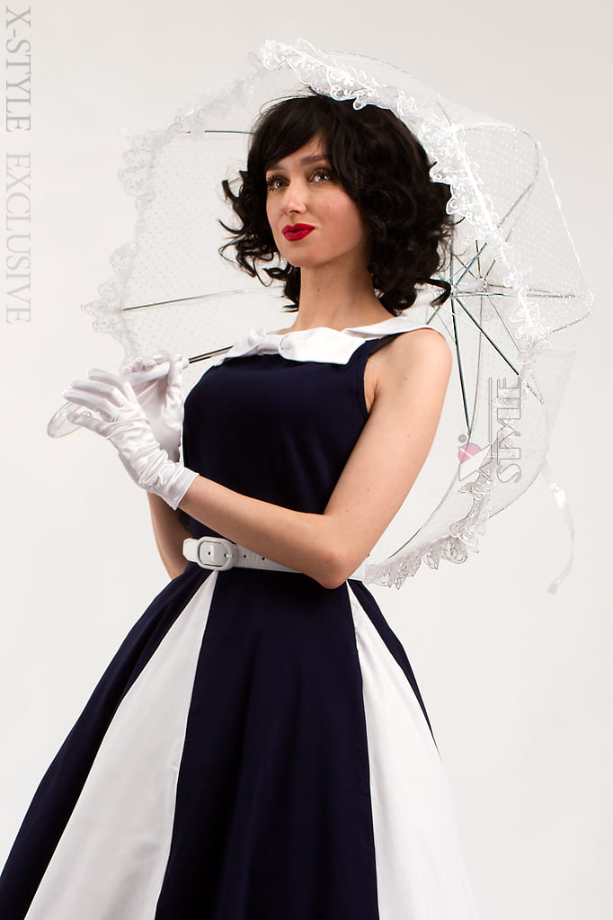 Белый ажурный зонт X02014, 3