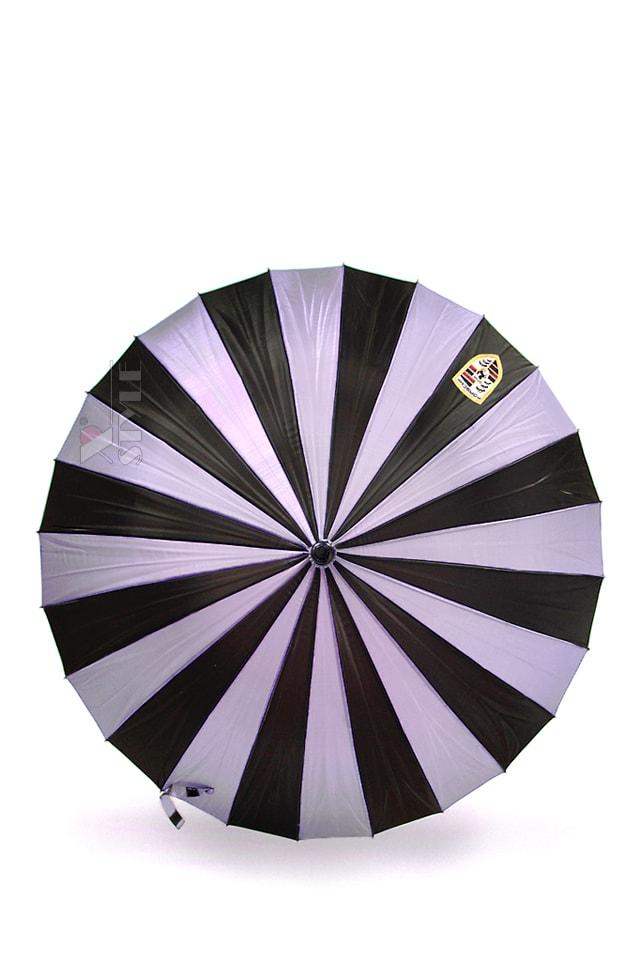 Зонт-трость 24 спицы (сиреневый/черный), 7