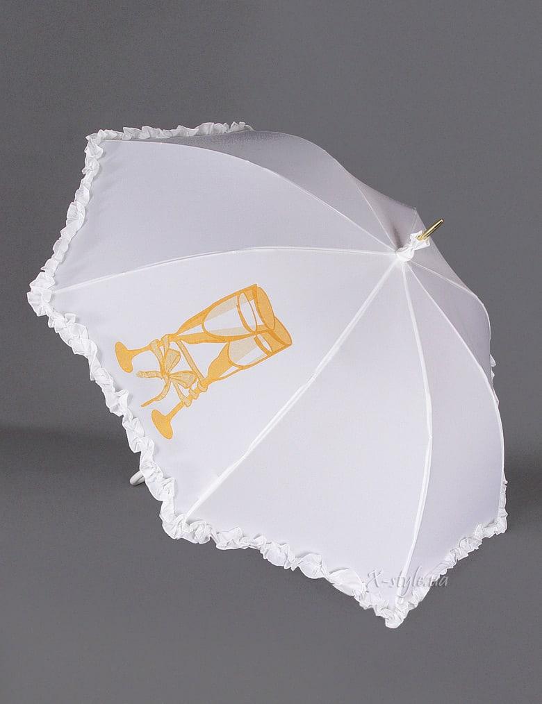 Белый свадебный зонт Sponsa, 11