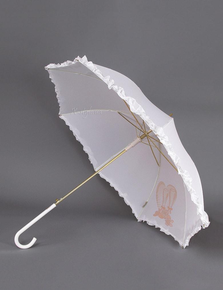 Белый свадебный зонт Sponsa